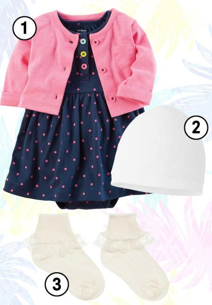 baby-coming-home-outfits-girls-summer-polka-dots-cardigan
