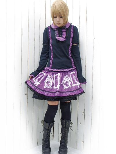 Cutsew Blouse w/ Removable Sleeves Black x Purple. #punkfashion #Gothic #Deorart See more at: http://www.cdjapan.co.jp/apparel/deorart.htmlGothic Punk Fashion, Punkfashion Gothic, Gothic Deorart