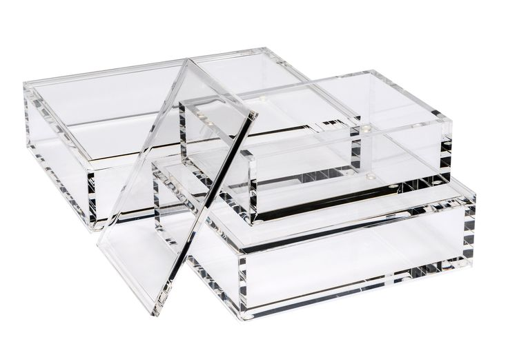 Buy Klein Acrylic Boxes - Clear by Interlude Home - Made-to-Order designer Accessories from Dering Hall's collection of Contemporary Mid-Century / Modern Transitional Art Deco Tabletop.