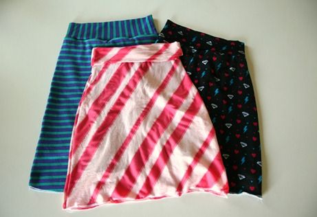 Playground skirt - knit skirt with shorts underneath which includes patterns for sizes 6-12 girls and teen sizes!