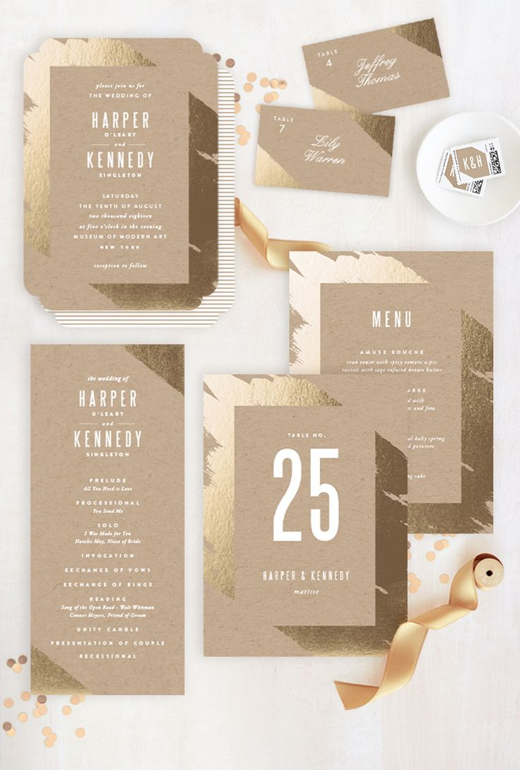 wedding invite background design%0A Coordinate your decor with your wedding invitation to create the ultimate  gold
