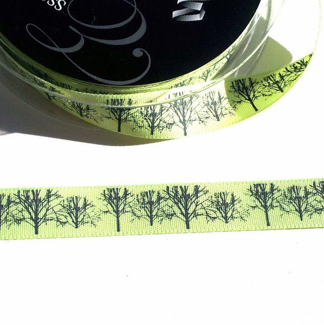 Green Tree Ribbon, Metre £0.80