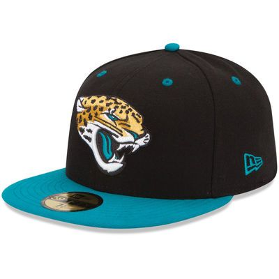 New Era Jacksonville Jaguars Teal/Black Two-Toned 59FIFTY Fitted Hat
