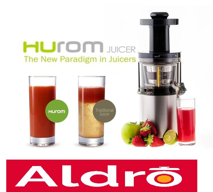 Hurom Slow Juicer is available at Aldro for Home and Kitchen Appliances Trading L.L.C showroom ...