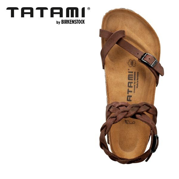 TATAMI YARA LEATHER HABANA (birkenstock footbed)