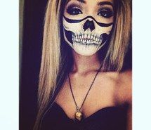 Inspiring image bones, costume, facepaint, girl, grunge, halloween, last minute, makeup, october, skeleton, skull, skullmakeup, diy costume, skullbandana, skullteeth, skullmouth #2195902 by marky - Resolution 640x640px - Find the image to your taste