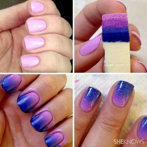 157 best glitter nails images on pinterest glitter nail art gradation nail polish tutorial prinsesfo Images