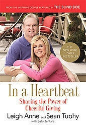 """In A Heartbeat by Leigh Anne & Sean Tuohy. Hardback based on """"The Blind side"""""""