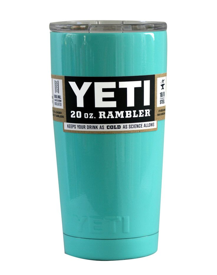 Seafoam Yeti 20 Oz Rambler Tumbler