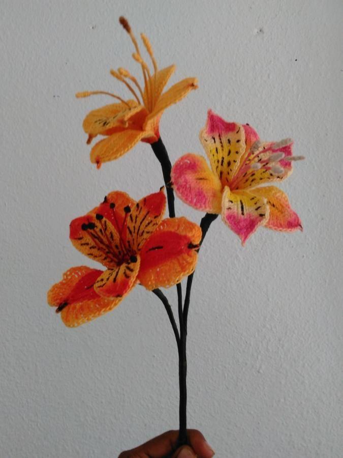 Peruvian Lily - Crochet creation by Flawless Crochet Flowers