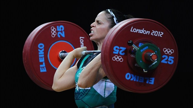 Mexico's Valdez takes the strain  Luz Mercedes Acosta Valdez of Mexico competes in the women's 63kg Weightlifting final on Day 4 of the London 2012 Olympic Games at ExCeL on 31 July    Pura fuerza las mujeres Mexicanas! Girl power!