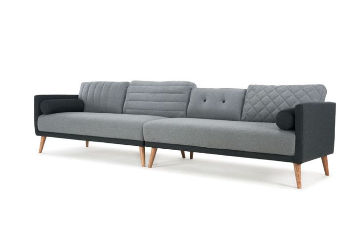 Sixten, 4-seater sofa, Andie Light Grey/Andie Antracit
