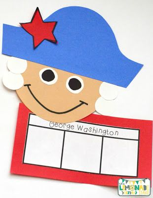 This Presidents' Day pack is the perfect ELA unit for the week of Presidents' Day.  It's full of Presidents' Day crafts, Presidents' Day activities, and has a focus on identifying key ideas and details in text.  Great for kindergarten through second grade.  Presidents Day craft | art | education | George Washington craft
