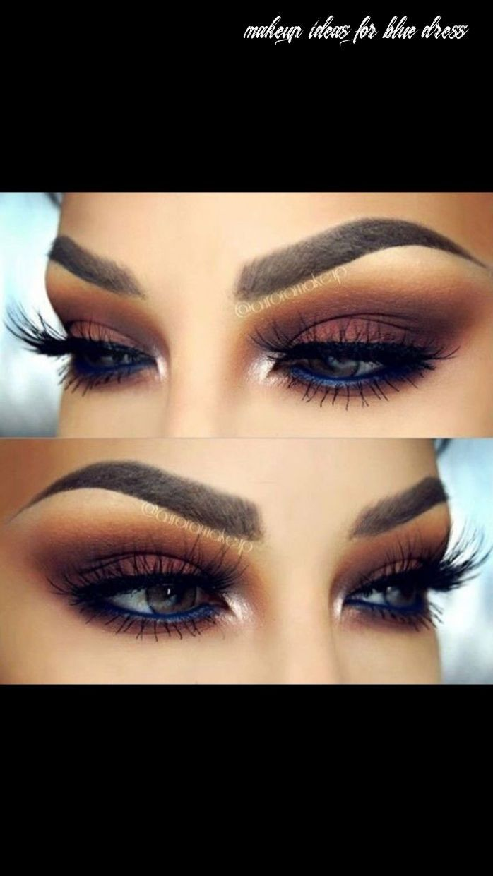 8 Makeup Ideas For Blue Dress  Eye makeup, Navy dress makeup