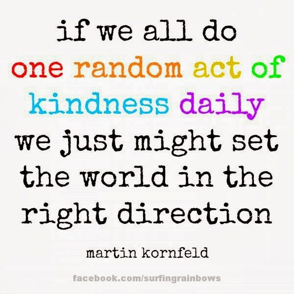 A list of 52 acts of kindness, Random acts of kindness for the entire year.