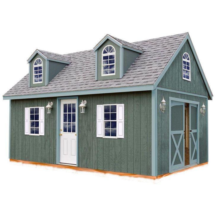 Arlington 12 ft. x 16 ft. Wood Storage Shed Kit, Clear