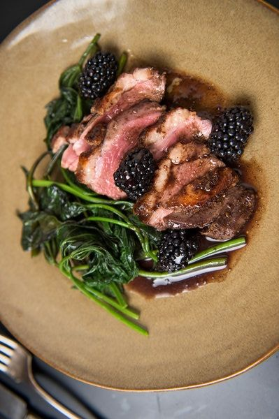 Muscovy duck breast is no more difficult than cooking a steak. Fragrant five-spice powder — a heady mix of Sichuan pepper, fennel, clove, star anise and cinnamon — is the perfect duck seasoning, and juicy blackberries make this a brilliant summertime dish. (Photo: Evan Sung for The New York Times)