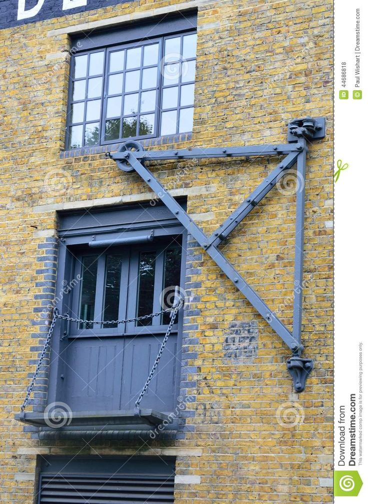 Converted Warehouse With Crane Stock Photo - Image: 44686818
