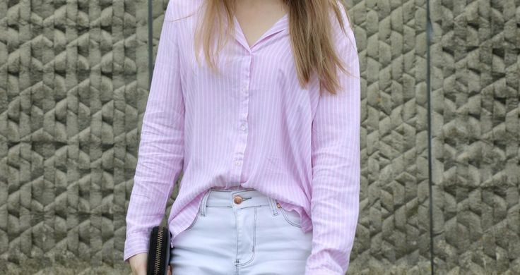 The Pink And White Shirt The Lilly Mint Blog