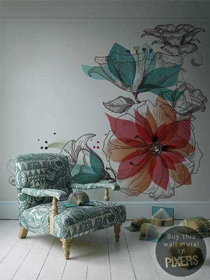 Fotomurales florales en PIXERS