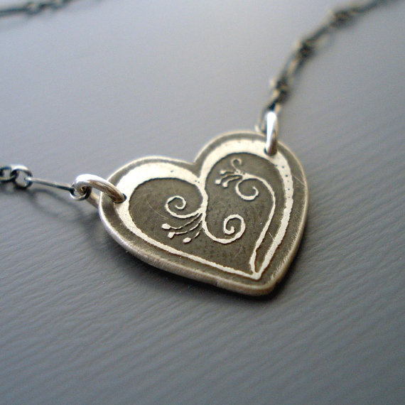 lisa hopkins silver heart necklace $46
