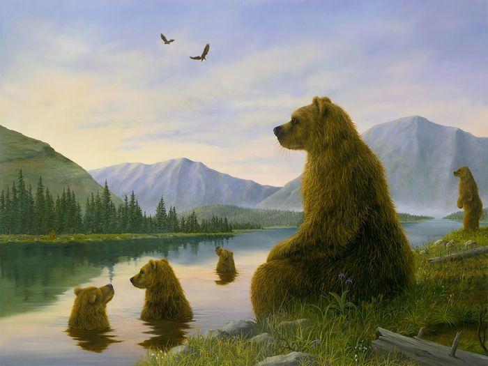 Умиротворяющее царство животных в иллюстрациях пяти художников - Ярмарка Мастеров - ручная работа, handmade