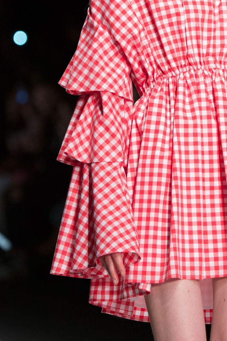 AU JOUR LE JOUR   Spring Summer 2017   Chequered flounces mini dress