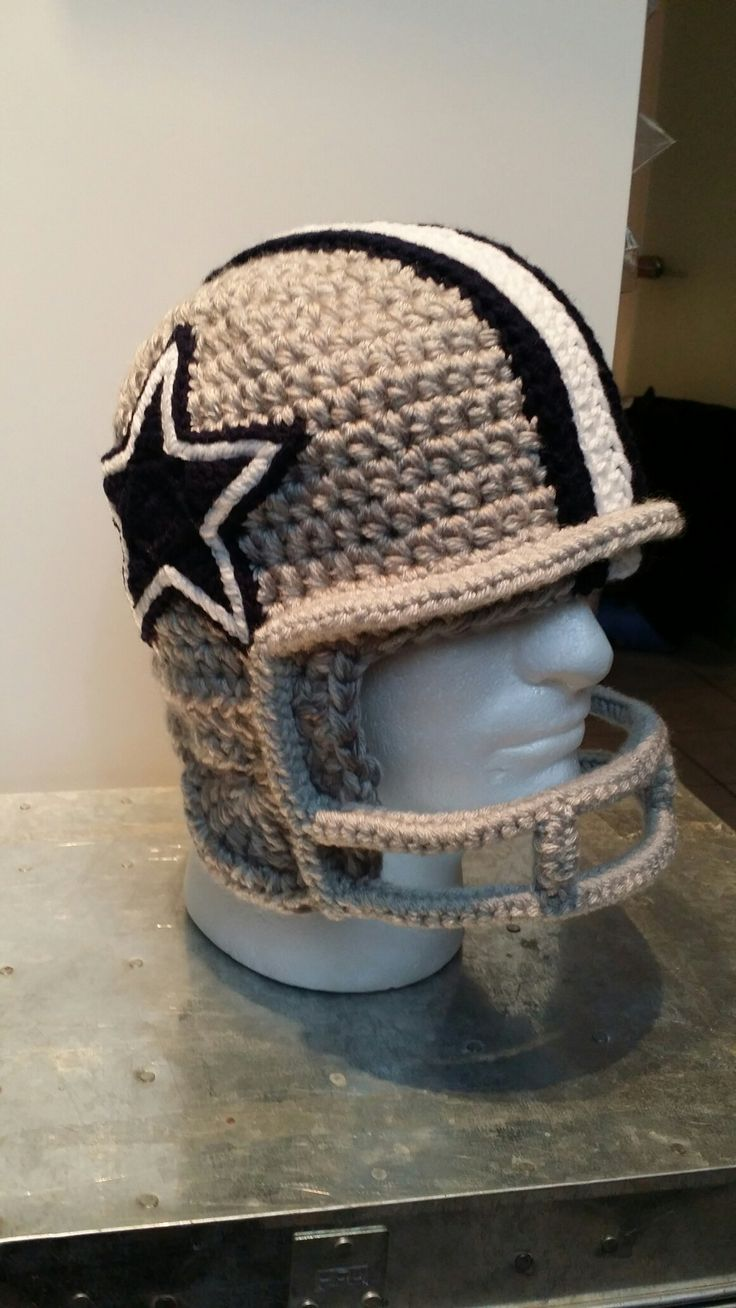 47 best dallas cowboys crochet images on pinterest crochet crochet cowboys football helmet bankloansurffo Choice Image