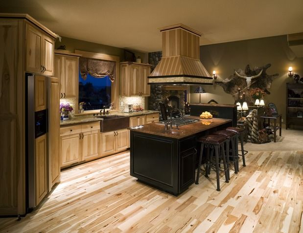 Knotty Alder Cabinets With Granite Traditional Kitchen