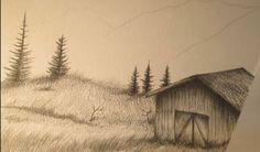 Paso 4 para dibujar paisajes realistas