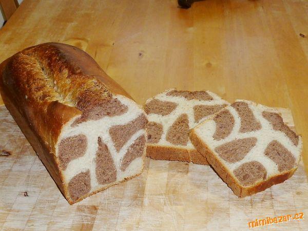 Kváskový dvoubarevný chléb Hokkaido s Thang Zhong