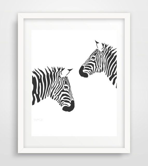 Zebra Print, Black and white Zebra Print, Printable Wall Art, Nursery Art,  Instant Download, Modern Wall Art