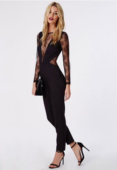 Turn heads at your next party with this showstopping Missguided black lace jumpsuit.