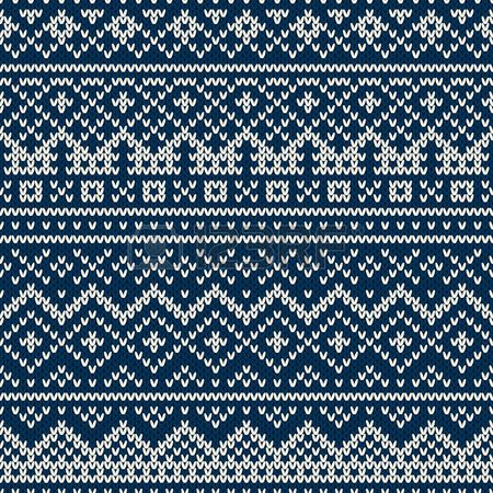 Tradicional estilo Fair Isle Nordic patr�n sin fisuras en el punto de lana de textura photo