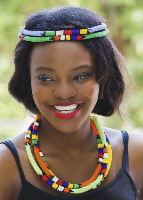 Color Me Zulu Necklace - Small.  South Africa
