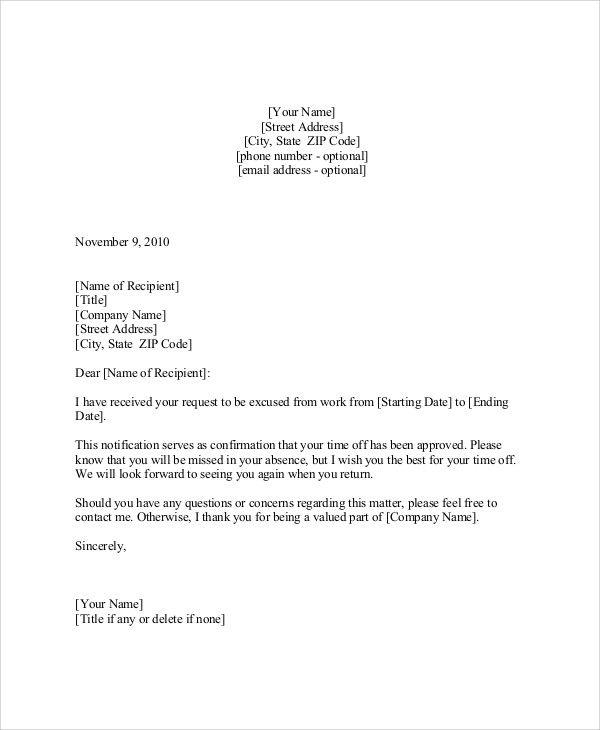 Vacation Request Letter Samples Unique 9 Sample Vacation Request Letters Pdf Doc Apple Pages Lettering Letter Sample Formal Business Letter