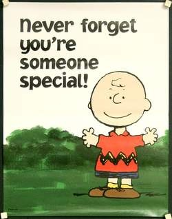 Charlie Brown, saying something Charlie Brown would never say. I love it!