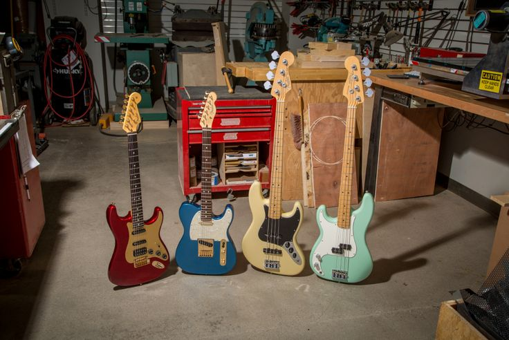 Something unique is always being created at the Fender Factory. One of them could be yours through the Fender Mod Shop.      #FactoryFriday #Customize #Guitar #Stratocaster #Telecaster #JazzBass #PrecisionBass