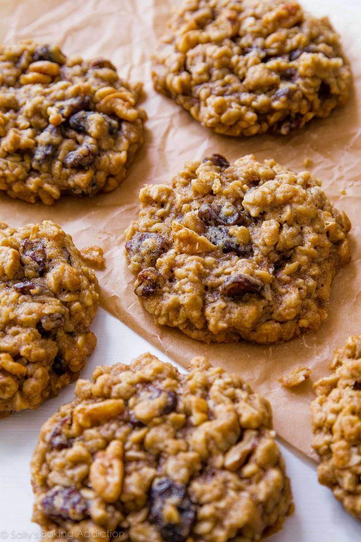 Soft-Baked Oatmeal Raisin Cookies by sallysbakingaddiction.com. Nothing fancy or complicated, just pure homemade goodness! Recipe on sallysbakingaddiction.com
