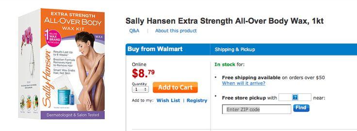 sally hansen wax kit (Walmart)