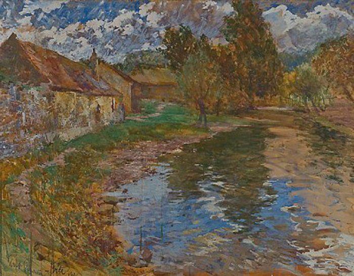 ANTONÍN SLAVÍČEK (1870-1910) Village