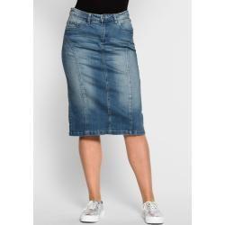 Große Größen: Jeansrock mit Teilungsnähten, blue Denim, Gr.44 SheegoSheego