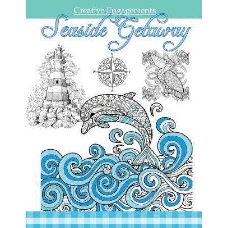 Seaside Getaway: Marine Life Coloring Book; Adult Coloring Books Ocean in All Depa; Ocean Animals; Ocean Theme; Marine Life; Mermaids;