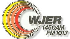WJER 1450 AM/101.7 FM radio - (80's-early 90's) Logo. Dover, OH When owned 101.7 fm Owner: WJER INC. Gary Petricola