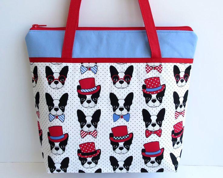 Women's Handbag, Shoulder Bag, Zip Closure with Two Internal Pockets, French Bulldog Handbag, Boston Terrier Handbag, Frenchie Bags by RachelMadeBoutique on Etsy https://www.etsy.com/au/listing/538524429/womens-handbag-shoulder-bag-zip-closure