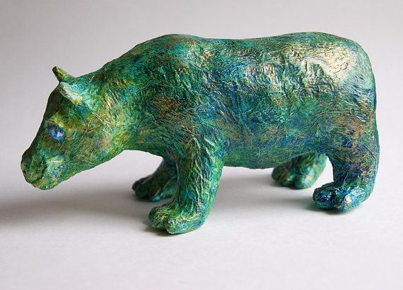 Christmas toy Hippo Christmas ornament Hippo by DecoNatureArt