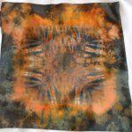 silk shibori pillow, hedvábný polštářek #silk #silkpillows #painting #shiborisilk #pillowcases #handmade #handpainted #shibori #shiborisilk