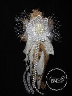 Angela Holt Designs: Shabby Burlap Bow tutorial