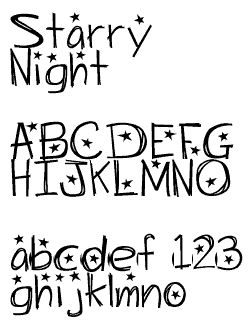 Starry Night FONT - FREE   :)   AWESOME !!!