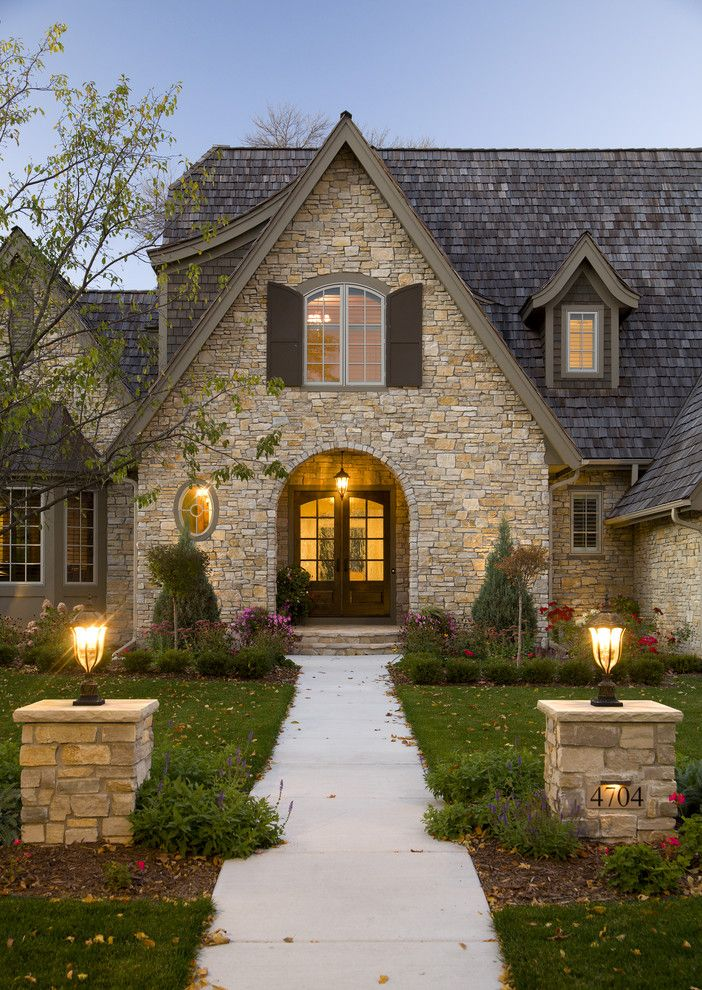 Traditional Exterior Photos Stone Cottage Design, Pictures, Remodel, Decor  And Ideas This Could Be A Cool Double Entrance If We Ever Did A  Duplex/condo ...